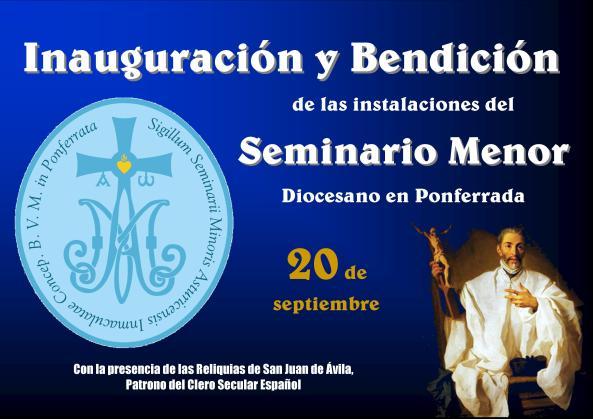 cartel bendicion seminario